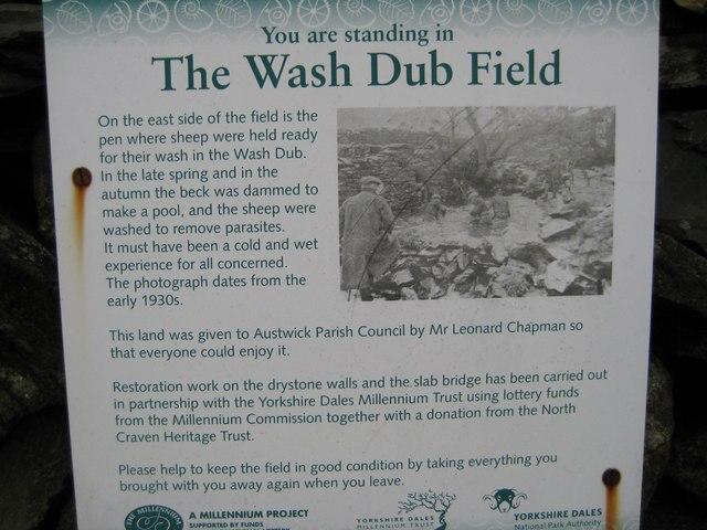 Information Board at Wash Dub Field