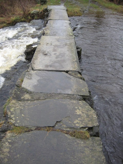 Slab bridge over Austwick Beck