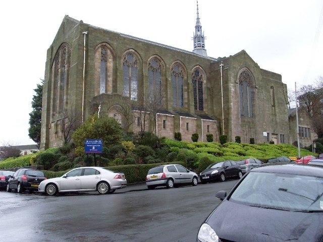 Closer view of St John Renfield Church