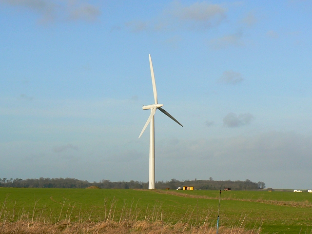Wind turbine constructed, Westmill Farm, Watchfield 25th January 2008