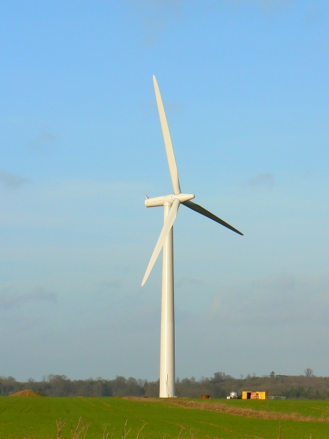 Wind turbine,Westmill Farm, Watchfield 25th January 2008