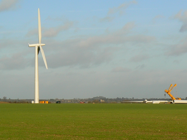 Wind turbine, components and plant, Westmill Farm, Watchfield 25th January 2008