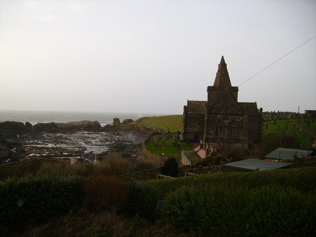 Stormy Day.  Auld Kirk