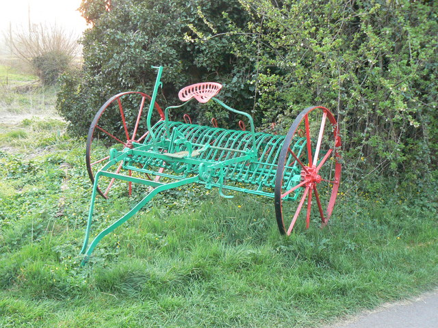 Farm implement at 'Pysgodlyn' Caravan and Camp Site