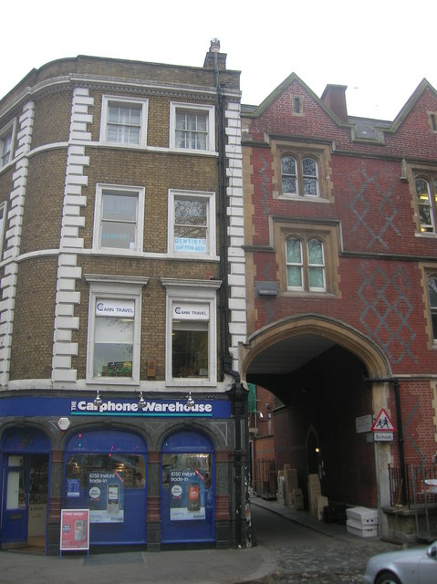 Carphone Warehouse at Junction of Kensington High Street and Kensington Church Court, London W8
