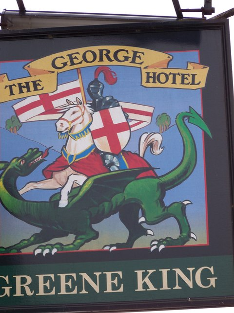 Sign for the George Hotel, Castle Cary