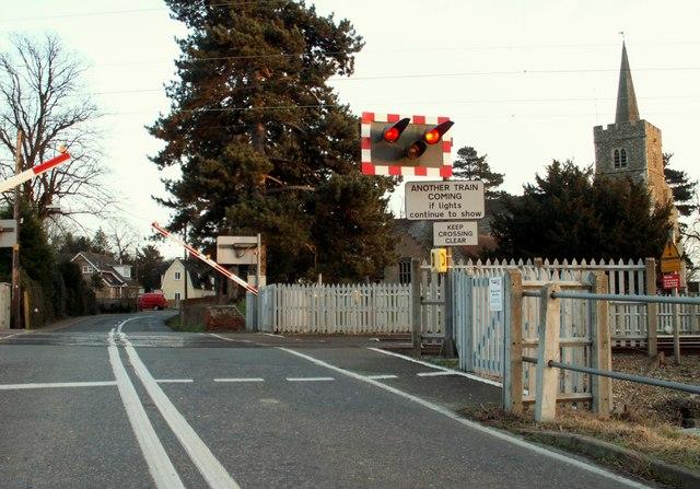 The level crossing at Kelvedon