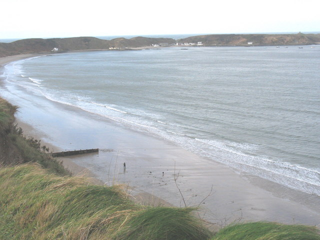 The sweep of the Porthdinllaen strand