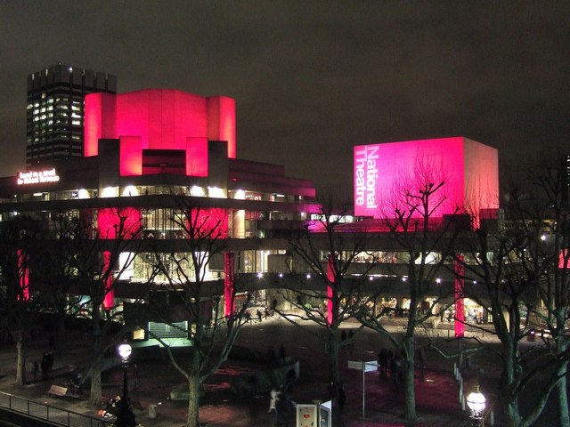 National Theatre at night