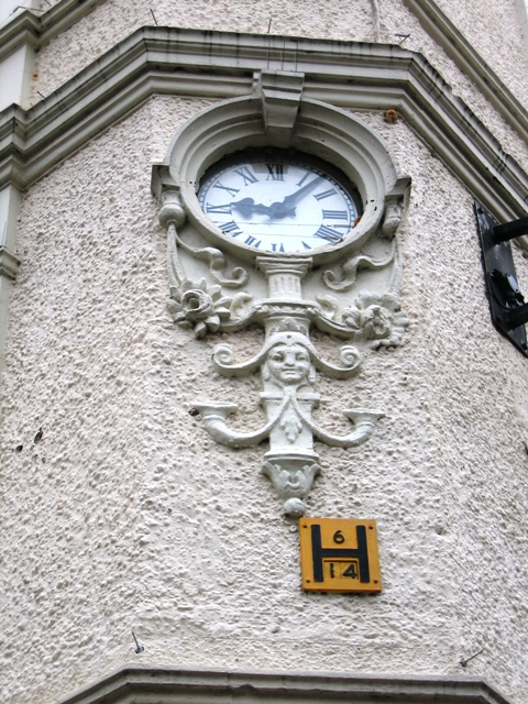 Clock detail on Cathedral Buildings