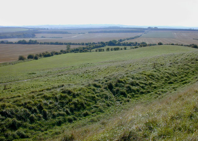 View southwest from Uffington Castle