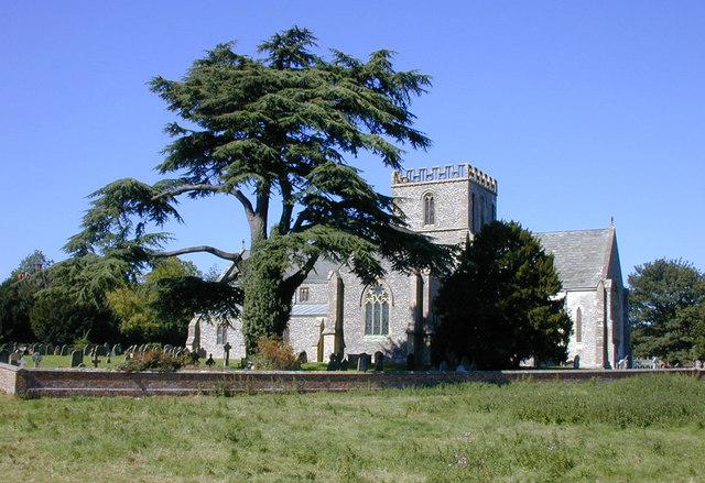 Great Bedwyn church and churchyard