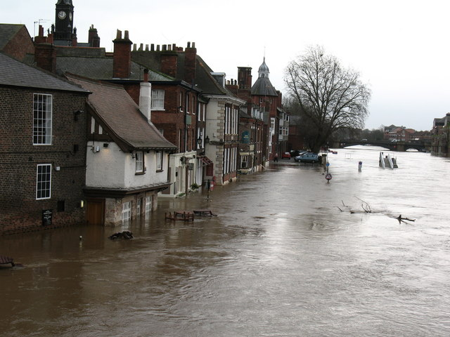Kings Staithe under floodwater