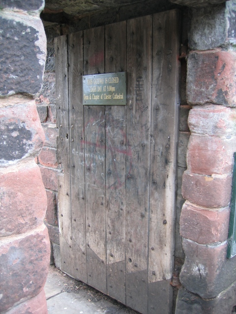 The door for the Kaleyards Gate