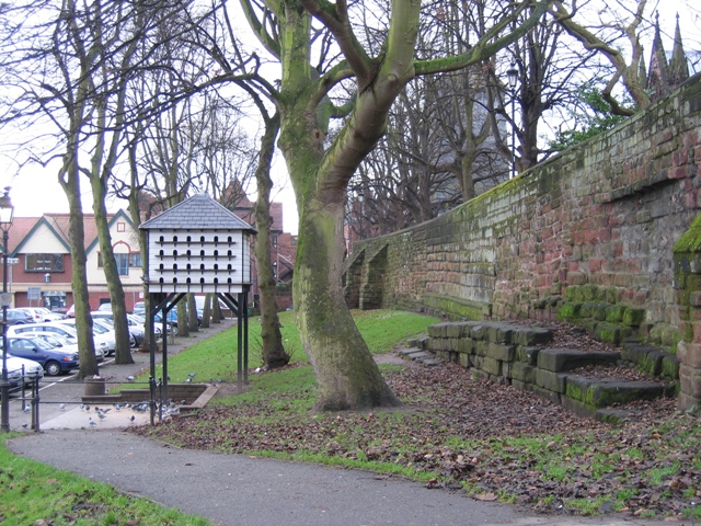 The city walls near the Kaleyards Gate