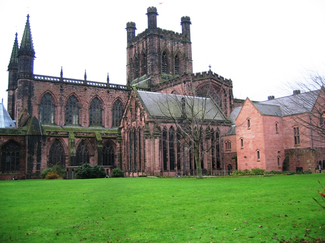 Chester Cathedral from Abbey Street
