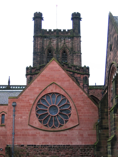 Rose window in the Cathedral Song School