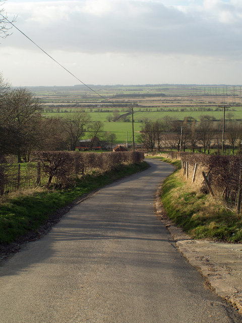 The road down to Horkstow