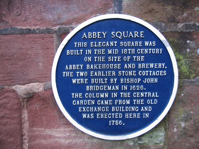 Blue Plaque in Abbey Square