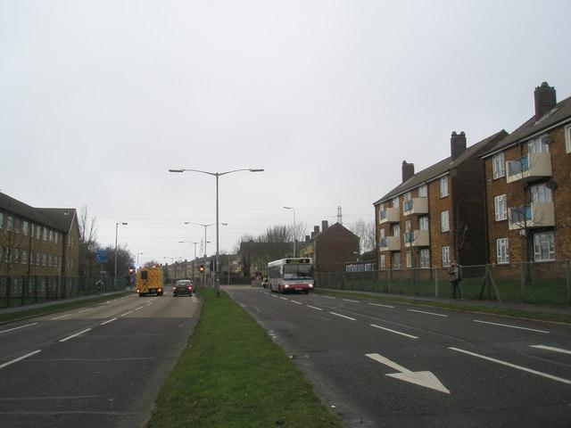 Looking westwards down Southampton Road