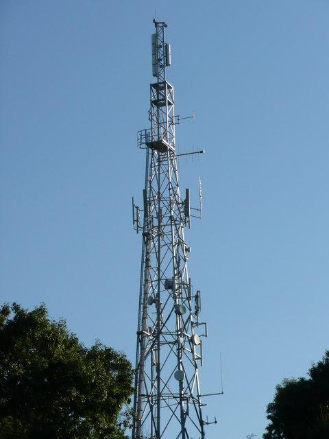 The Hutton transmitter mast