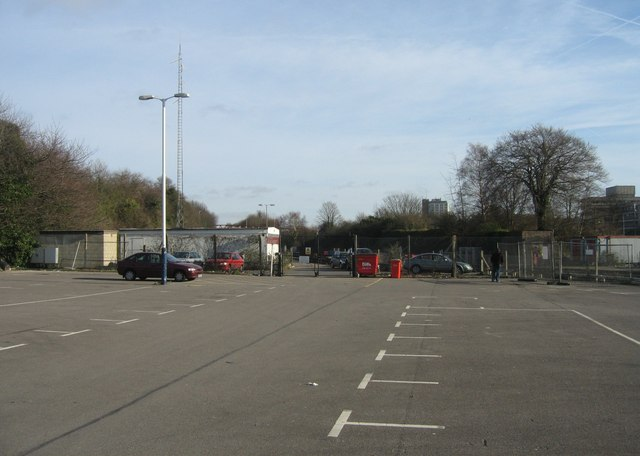 Far end of North Yard car park