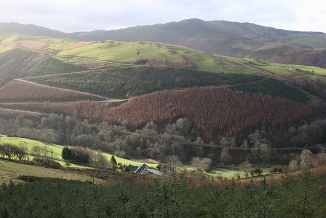 Cwm Cemrhiw from above