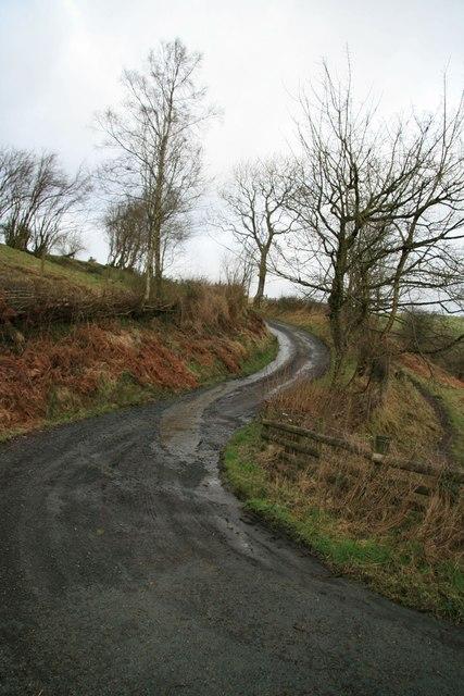 Old lane below Wainhir