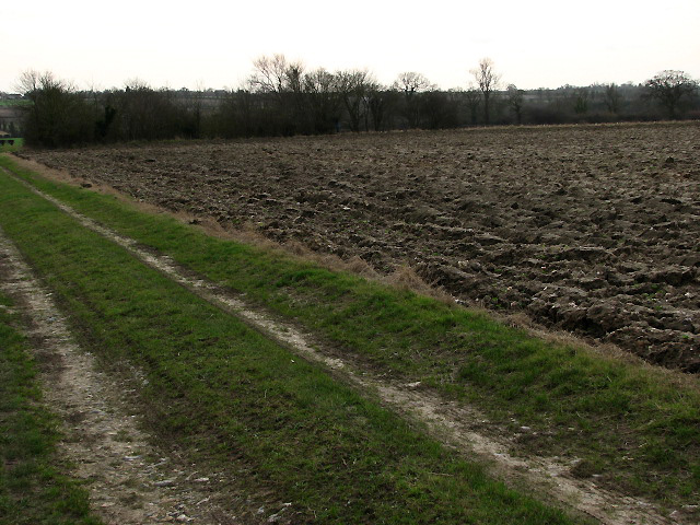 Ploughed field on bleak January day