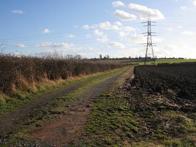 Farm track off Bradmore Lane