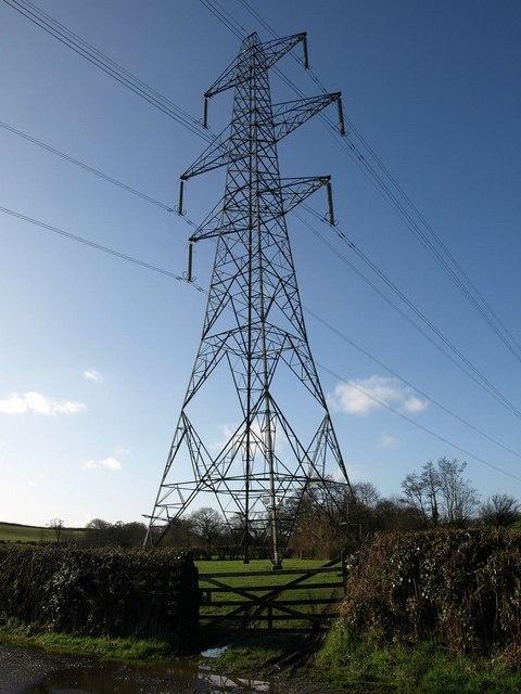 Pylon at Birbrook