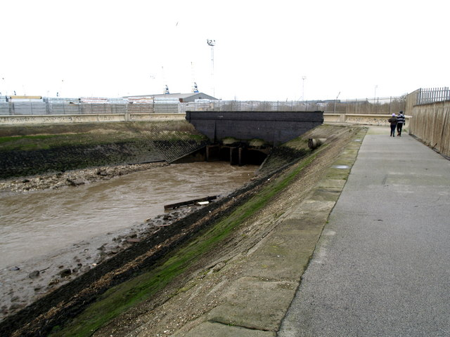 Where Holderness Drain meets the River Humber
