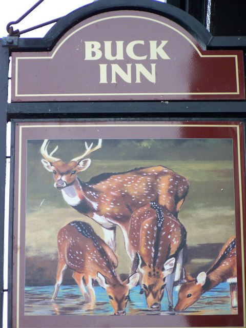Sign for the Buck Inn, Whitby