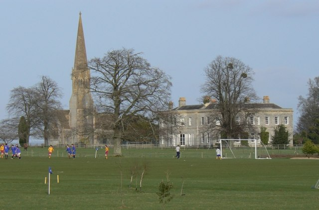 Football practice in front of Kingweston Church