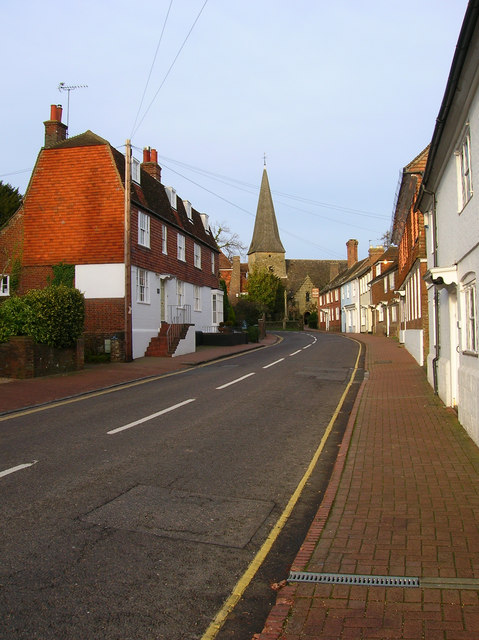 Towards All Saints, High Street, Lindfield