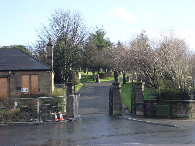 Entrance to Drumry cemetery