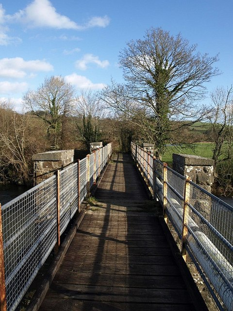 Footbridge across the River Taw