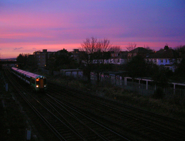 Sunset Over the West Coastway Line