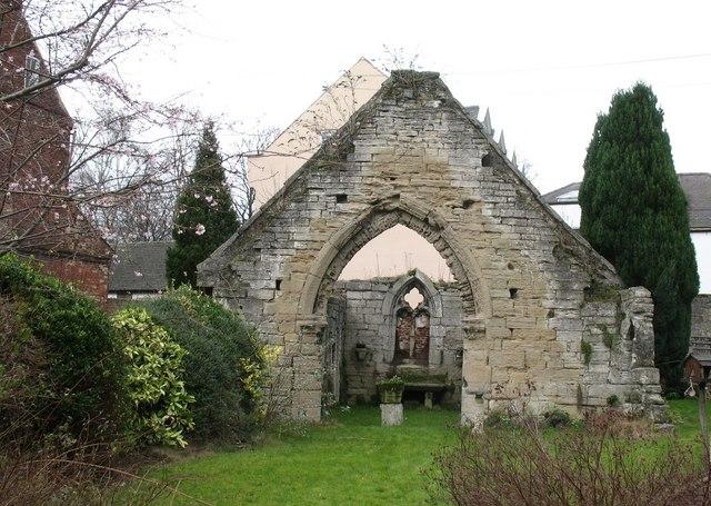 St Anne's Chapel Hospital ruins