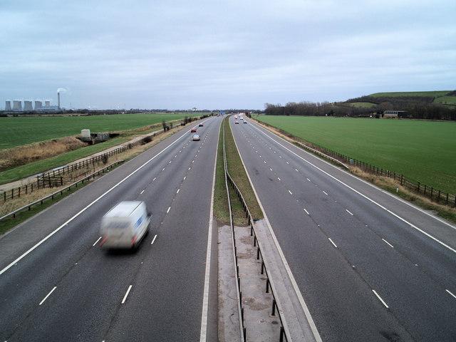 M62 motorway East bound