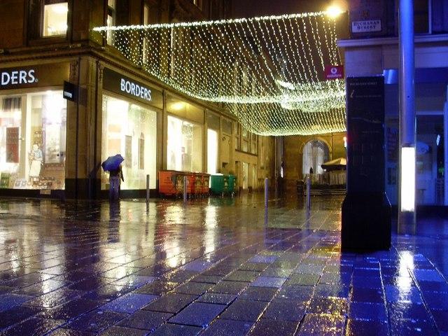 Royal Exchange Square at night