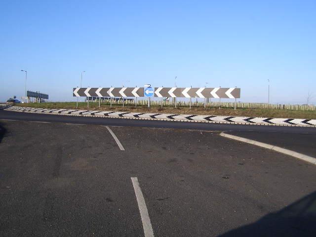 Traffic Island on Black Cat Roundabout