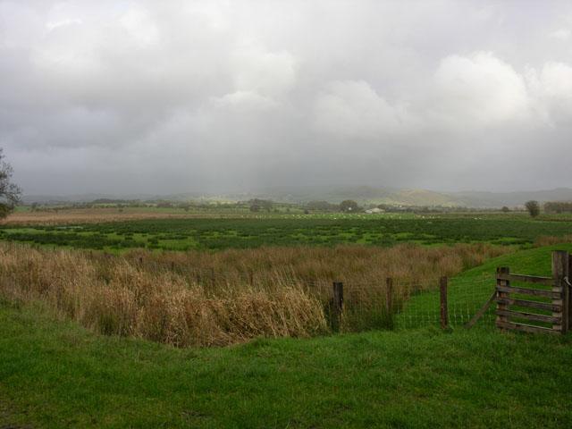 Fields north of the Afon Fflur