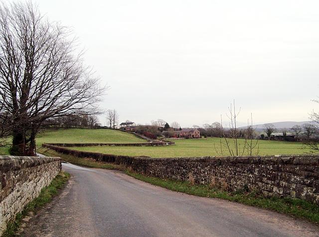 Road from Dovecote Bridge to High Dovecote Farm