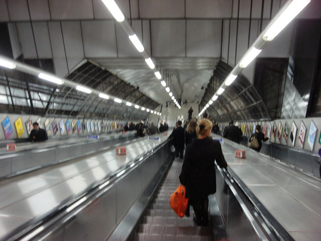 Escalators, Holborn Underground Station