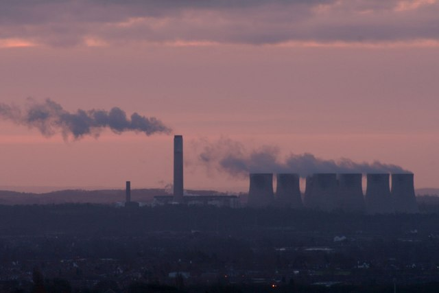 Sunrise over Ratcliffe power station