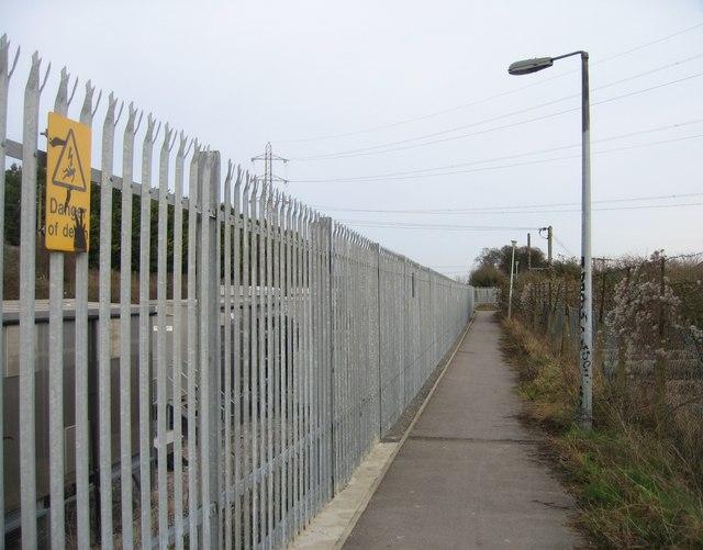 Footpath beside railway line