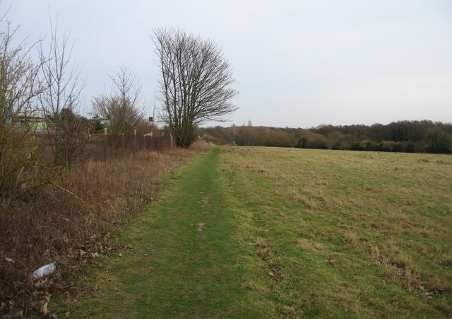 Footpath runs alongside the London railway line