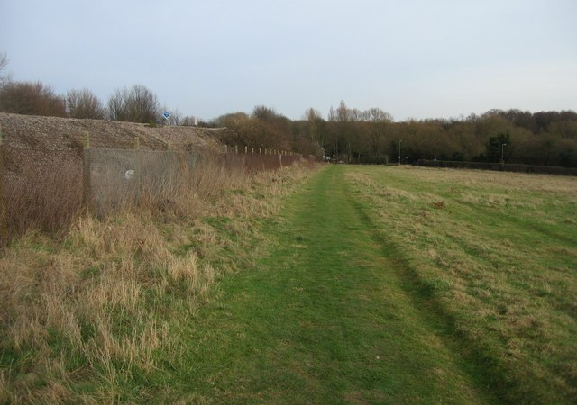 Embankment & footpath