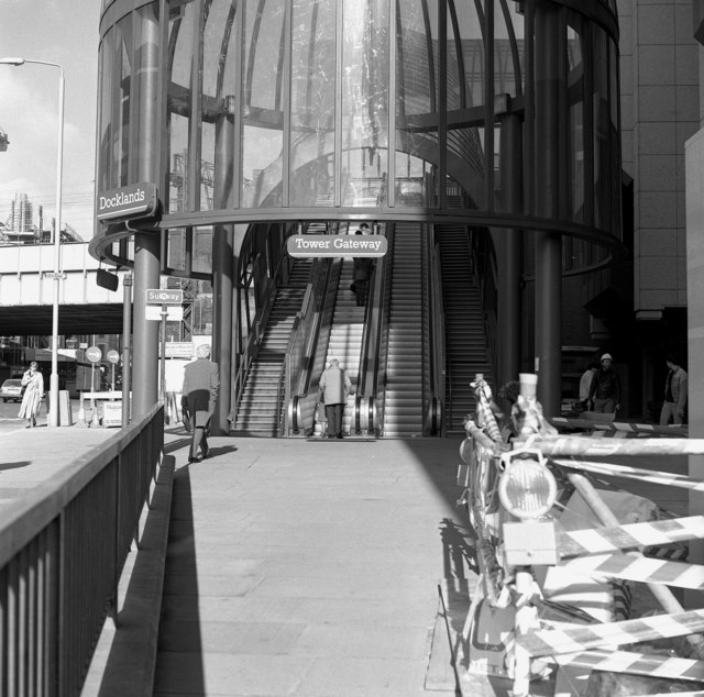 Entrance to Tower Gateway station, Docklands Light Railway